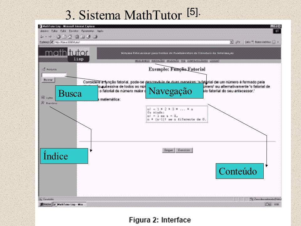 3. Sistema MathTutor [5]. Navegação Busca Índice Conteúdo